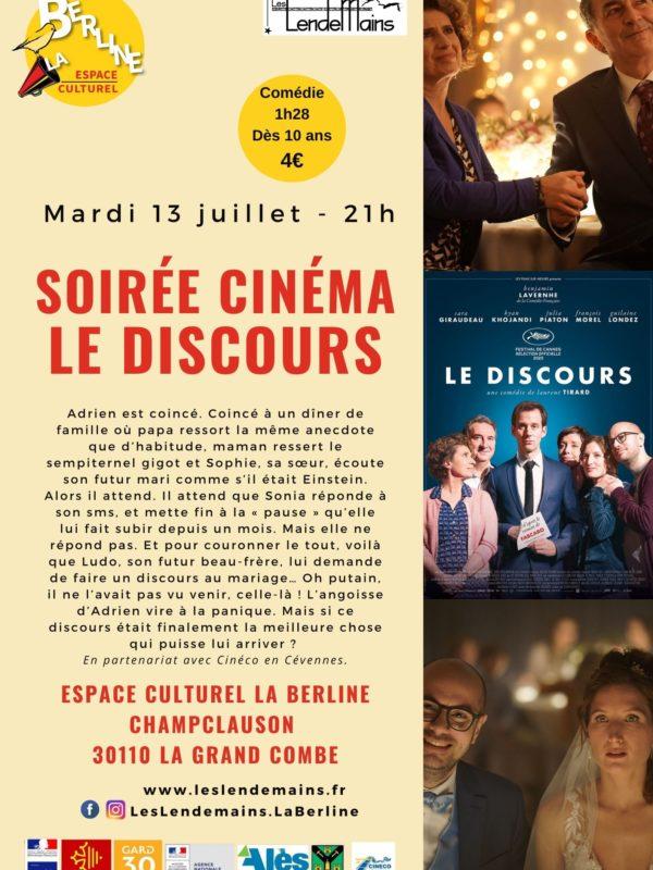 Cinéma Le Discours 13-07-21