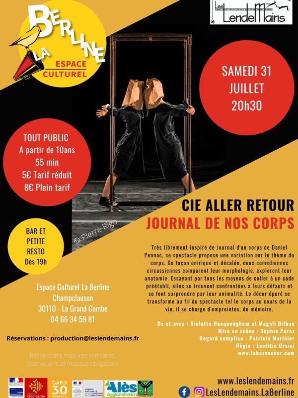 Cie Aller Retour - Journal de nos corps 31-07-21